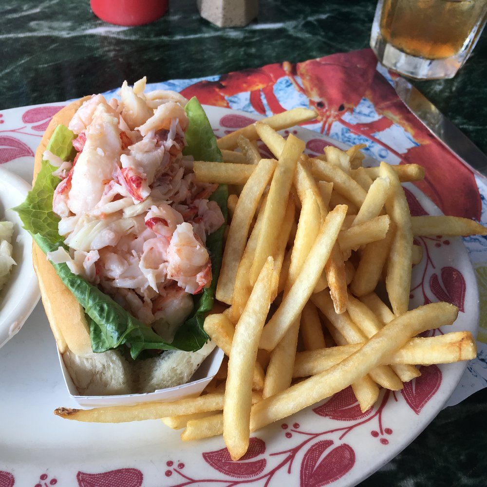 pretty much sums up my trip ... Maine summer staples at Mable's Lobster Claw in Kennebunkport