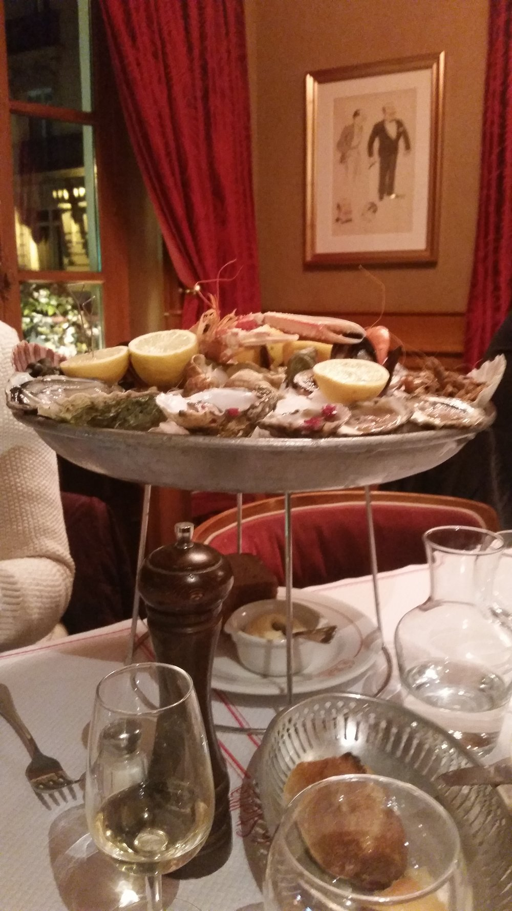 Seafood platter at Le Stella brasserie.