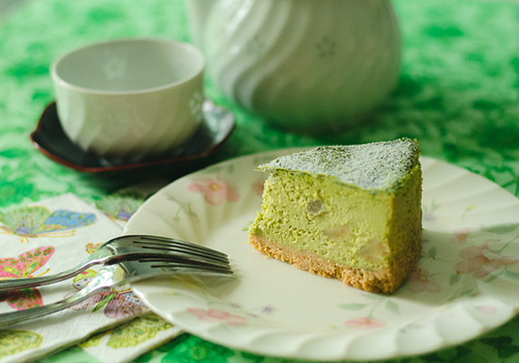 Macadamia Nut Green Tea Cheesecake - from InnerHarmonyNutrition.com