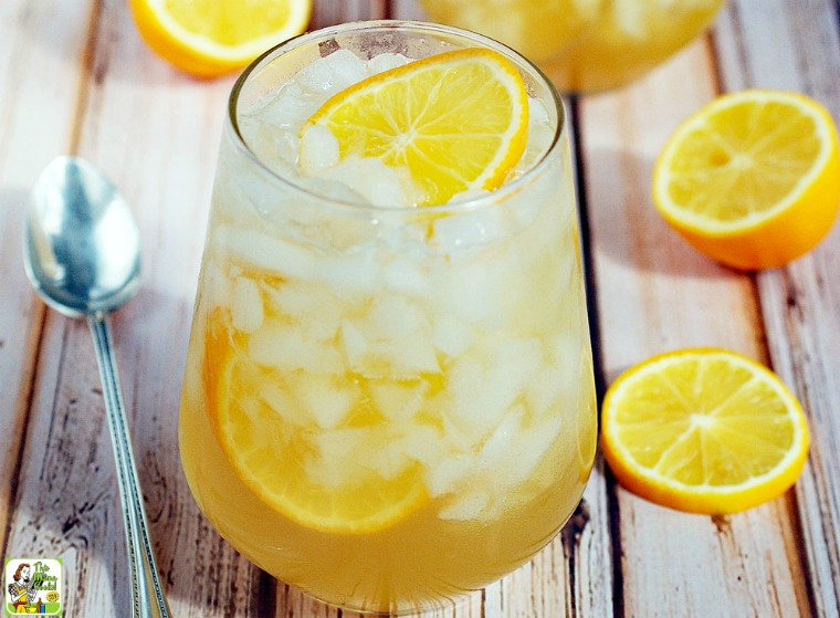 Meyer Lemon Shrub Drink - from ThisMamaCooks.com