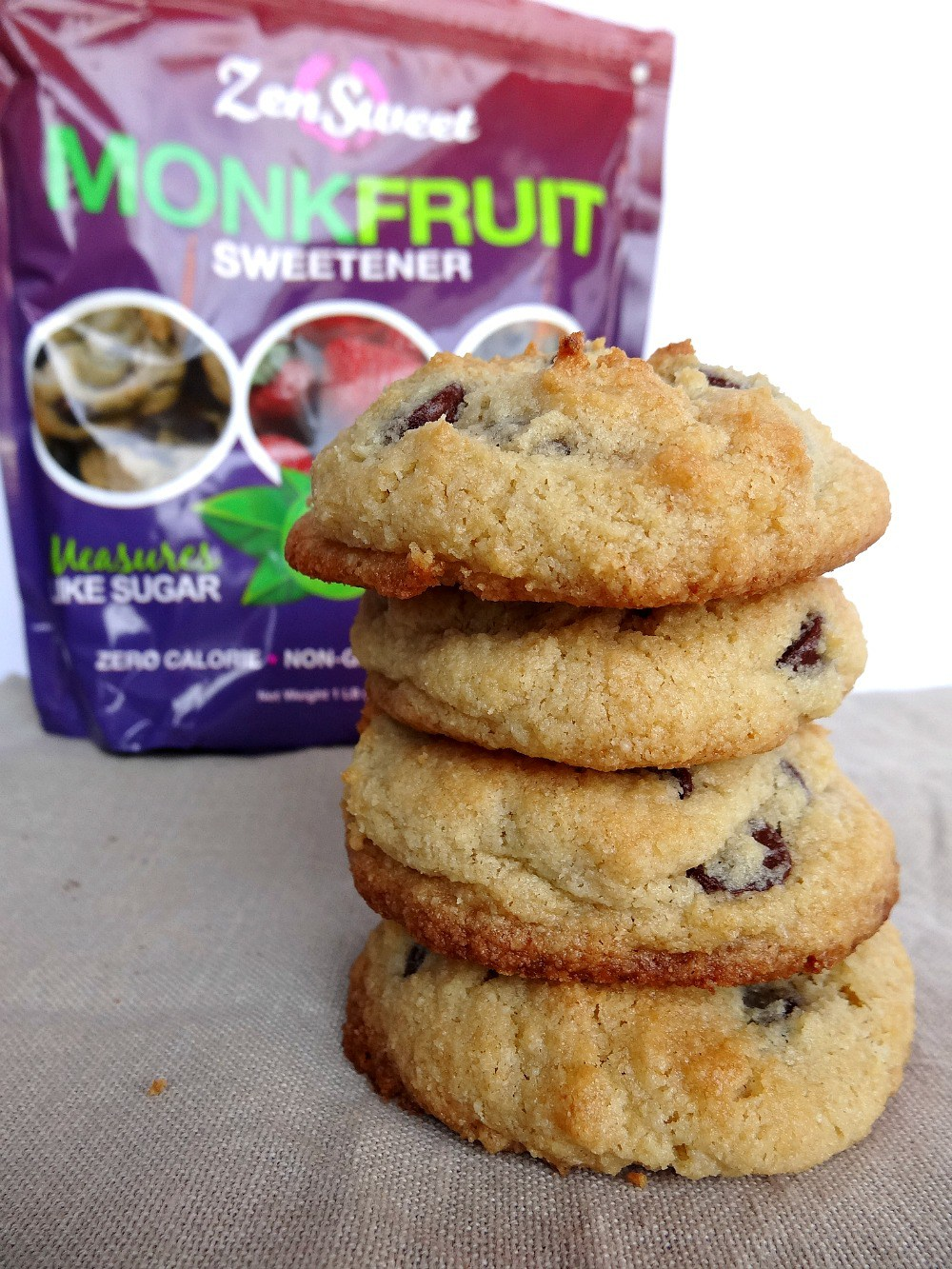 Almond Flour Chocolate chip cookies - from GoodForYouGlutenFree.com