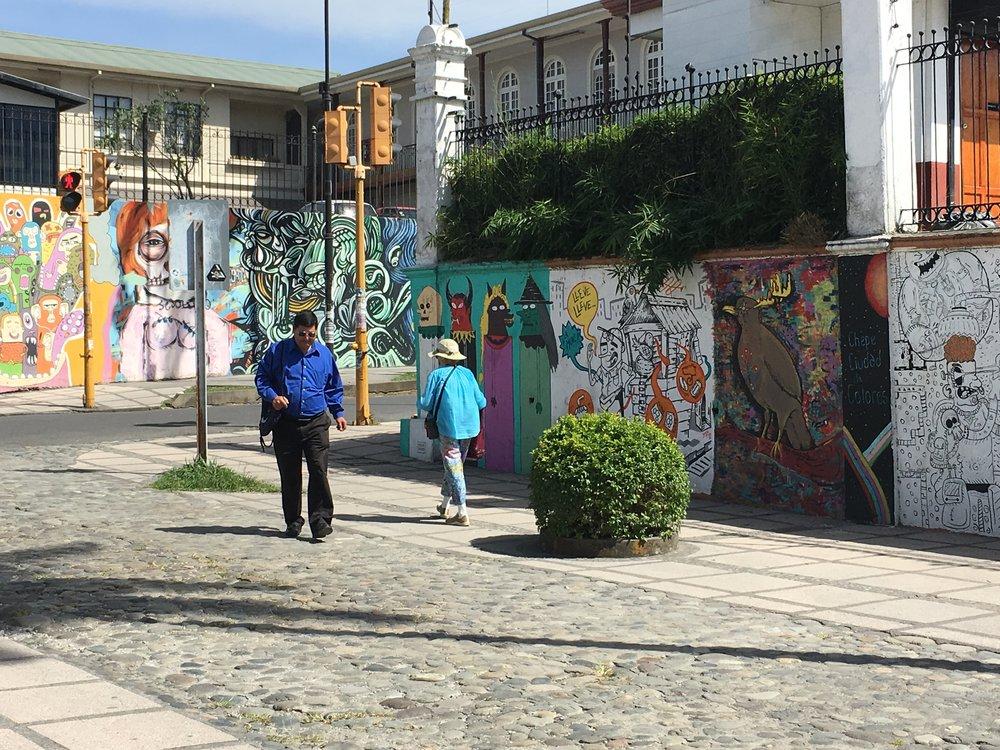 Street art in downtown San Jose, Costa Rica