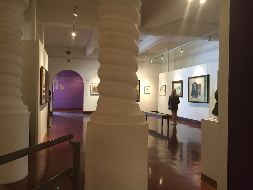 Participating artist, Cassie Larson, in the Museum of Costa Rican Contemporary Art