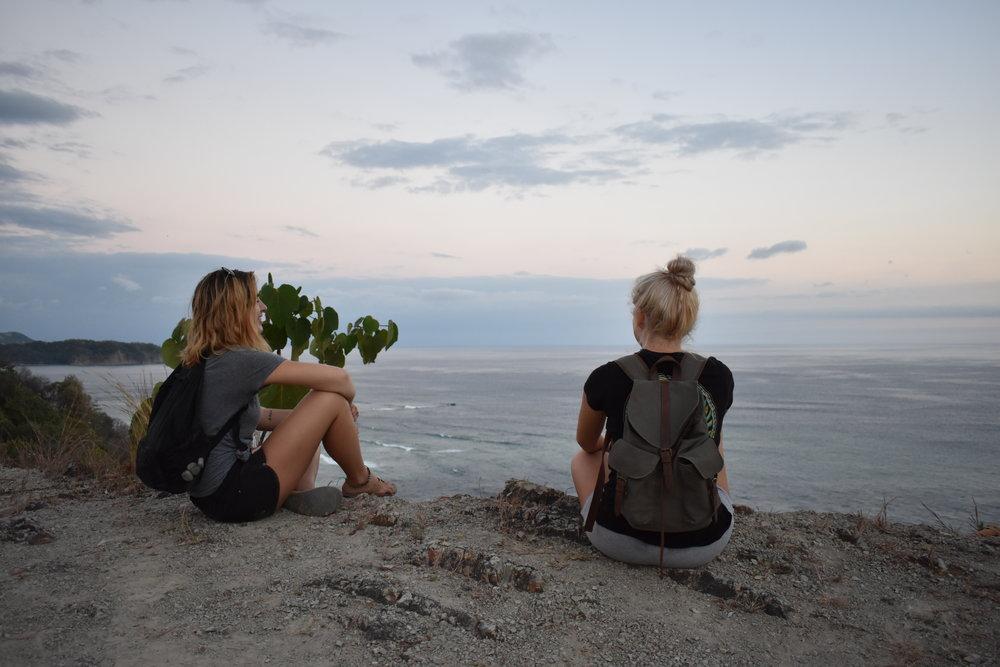 Hollie Moser (left) and Cassie Larson (right) enjoying the last sunset