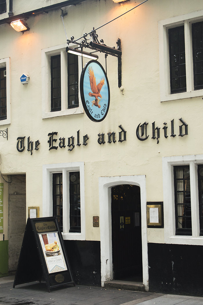 Had a lovely lunch at the famous hangout of Tolkien & Lewis (and other, less mentioned Inklings),   Eagle & Child , Oxford.