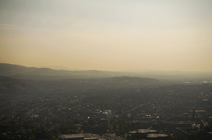 The view of Edinburgh, in late afternoon,   Arthur's Seat.
