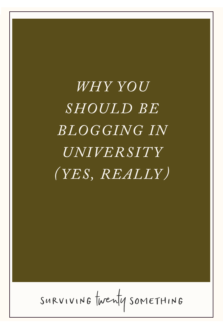 Why you should be blogging in university: how running a blog can help you get a job, manage your time like a boss, and find your people.