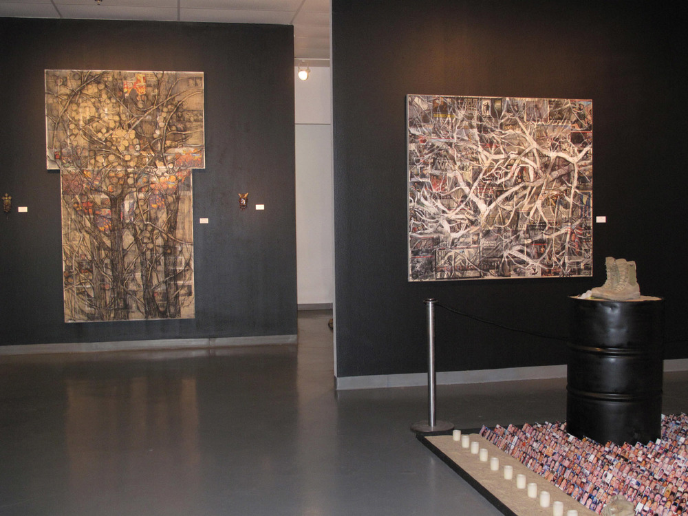 2aj(3) - Tangles, w Barren Fruit, , installation at Art Car Museum, 2011.jpg