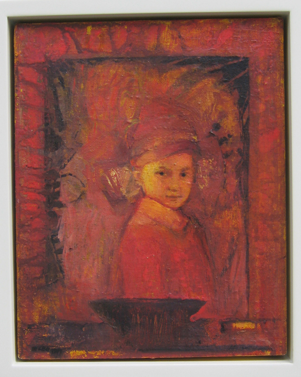 5be(0) - The Looking Glass, iul on canvas, wood, 17x15 in. 2001.jpg
