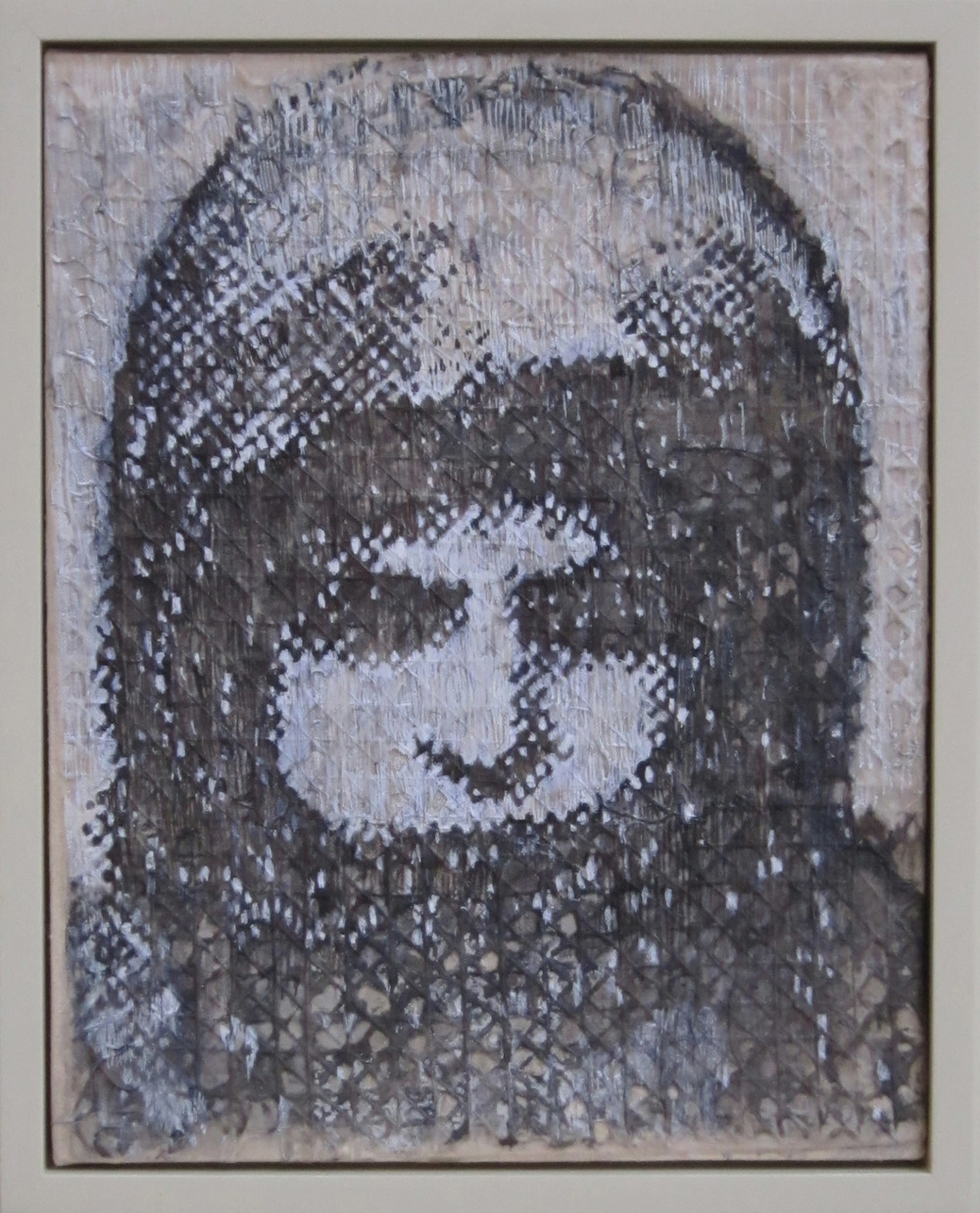 5bk(0) - Orphan Girl, inks on handmade paper over canvas, 14x11 in. 2010.jpg