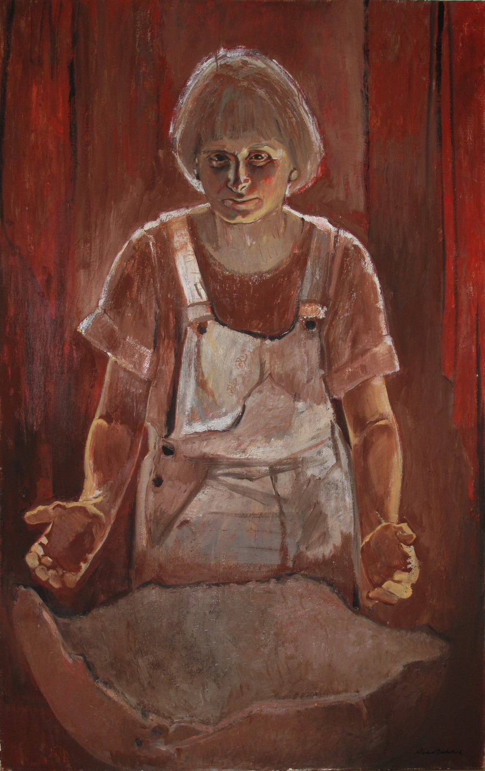 5da(0) -The Vessel (Portrait of Betty),oil, wax on linen, 65x41 in. 2004.jpg