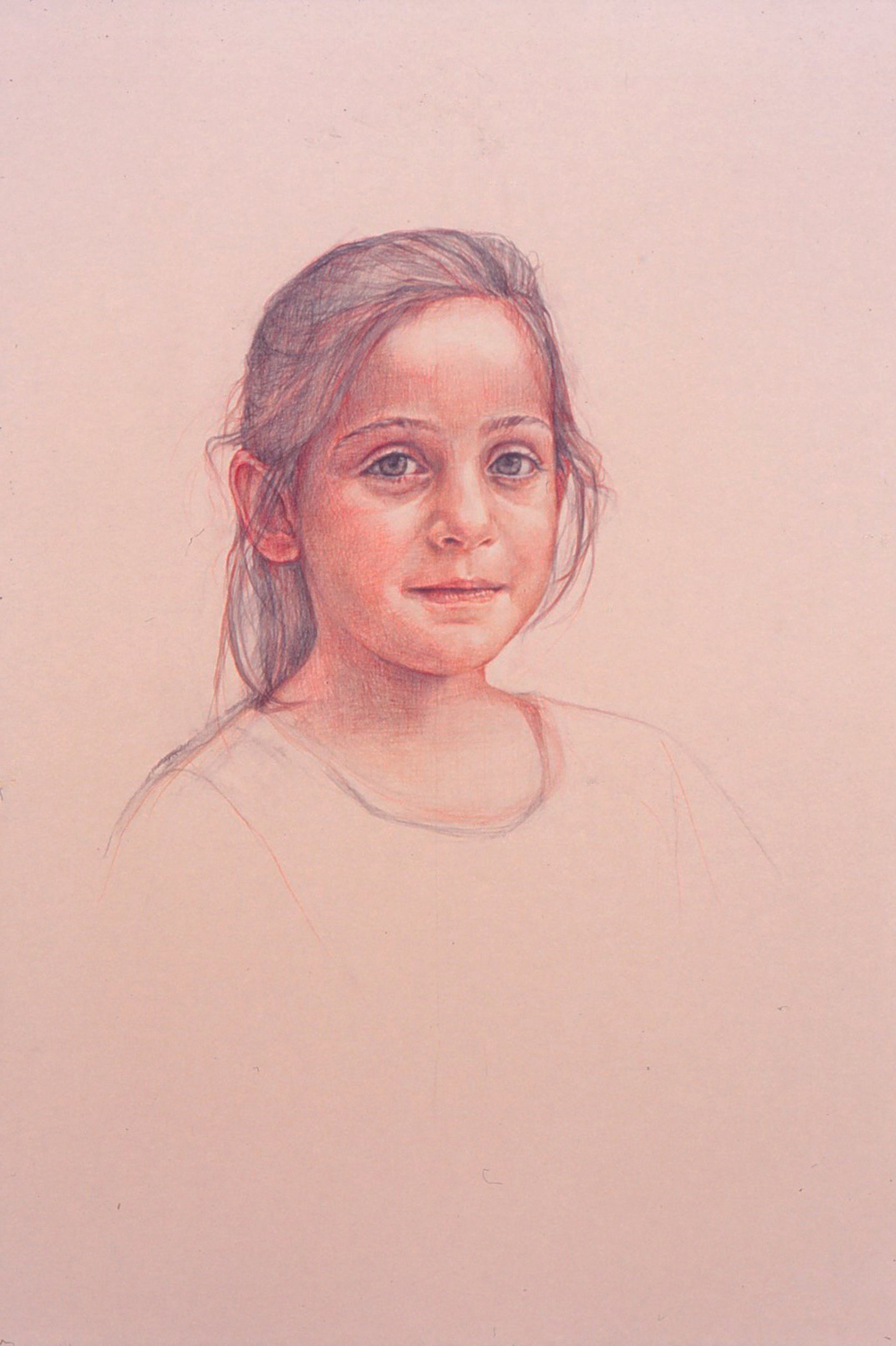 5de(0) - Portrait of Irene - color pencil, charcoal on toned paper, 30x18 in. 1992.jpg