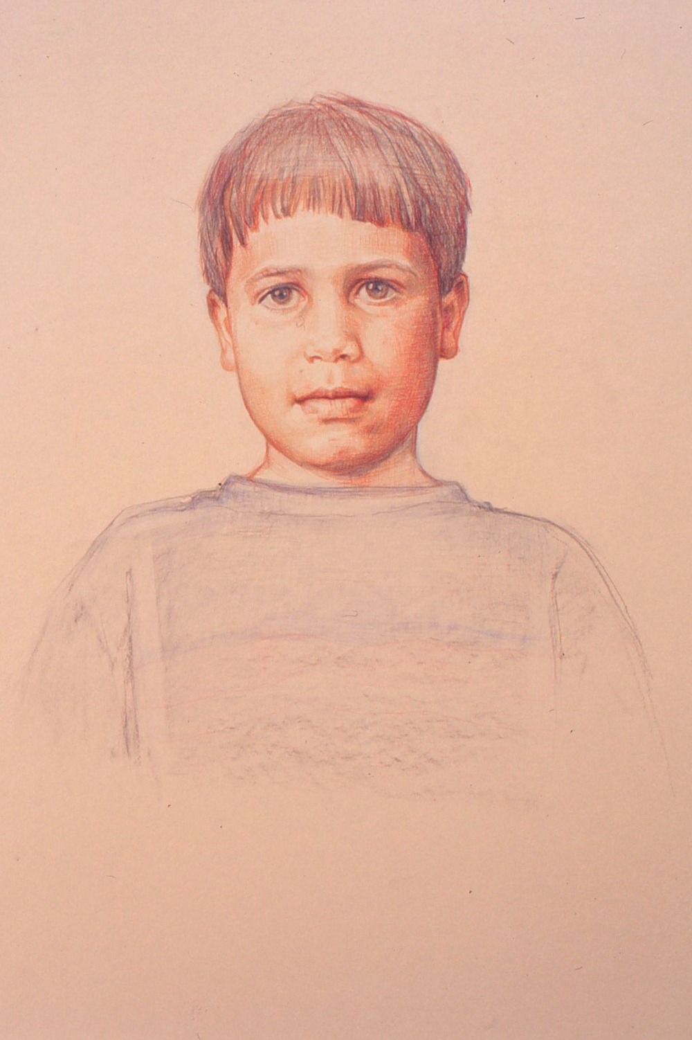 5df(0) - Portrait of Richard -color pencil, charcoal on toned paper, 30x18 in. 1992.jpg