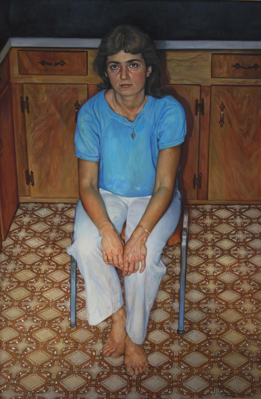 5dl(0) -The Byzantine Kitchen Trap -oil on canvas, 52x35 in. 1984.jpg