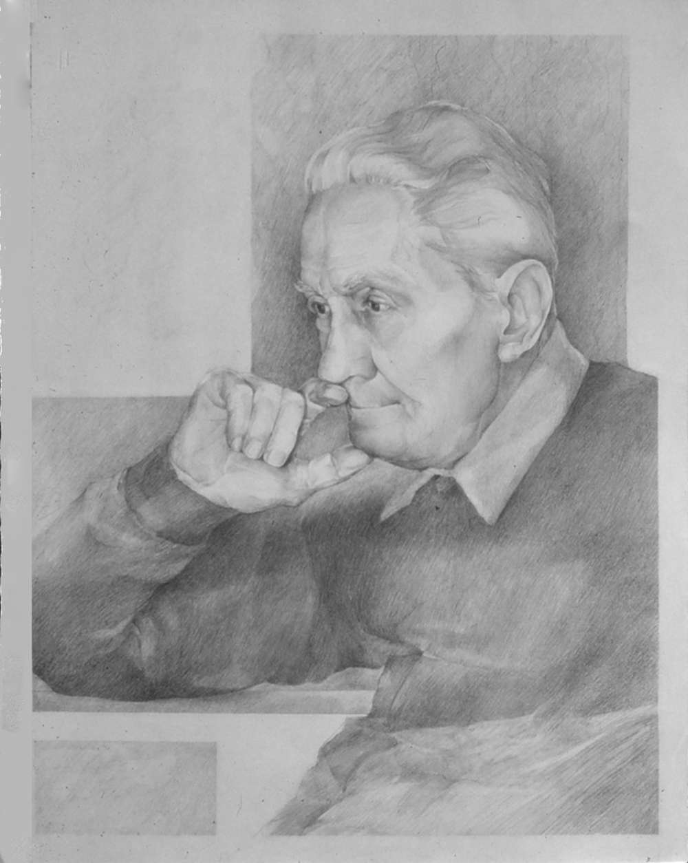 5dw - Of The Cross- pencil on paper, 24x36 in., 1978.jpg