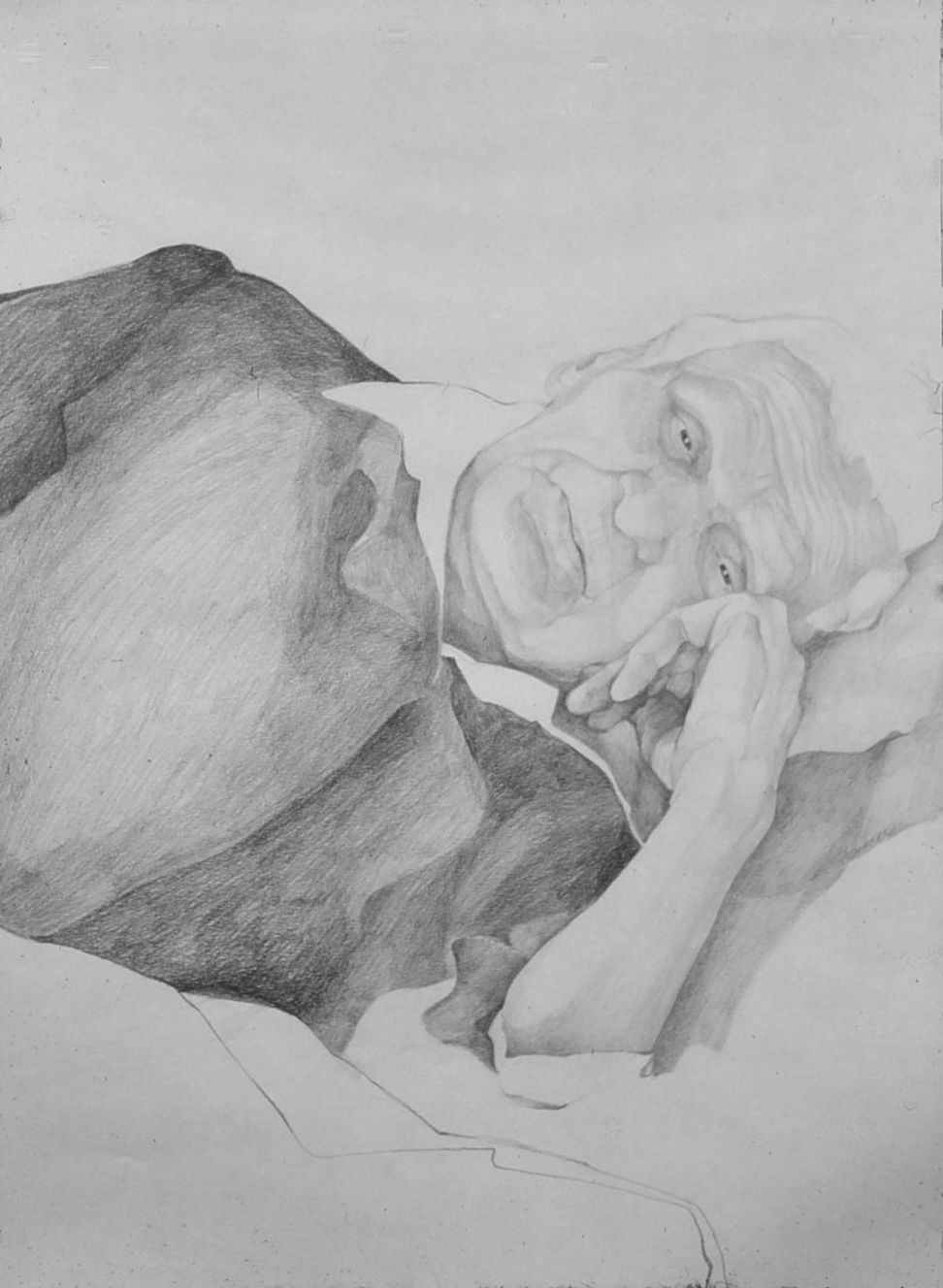 5dx(0) - The Passage- pencil on paper, 24x18, 1978.jpg