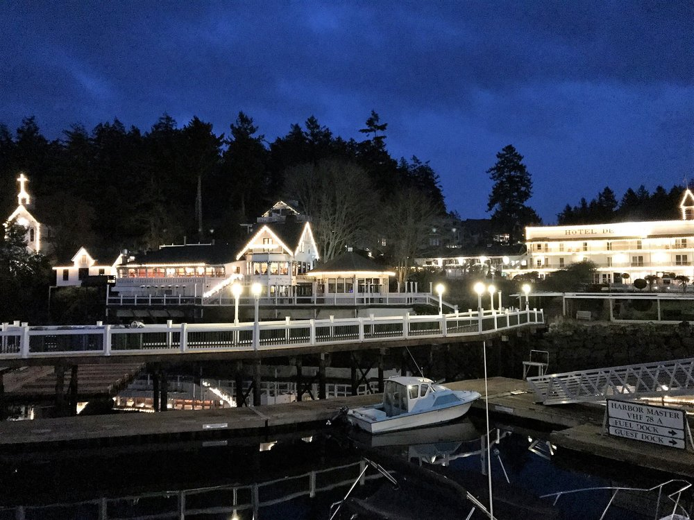 Roche Harbor Resort by Night