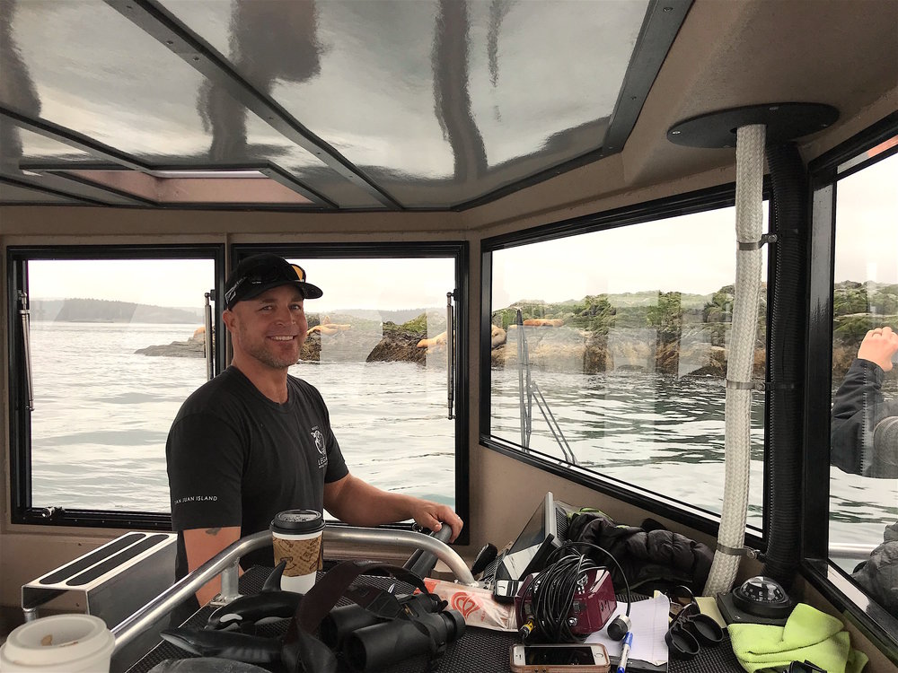 Captain Spencer with Maya's Legacy Whale Watching and the Steller Sea Lions of the Salish Sea