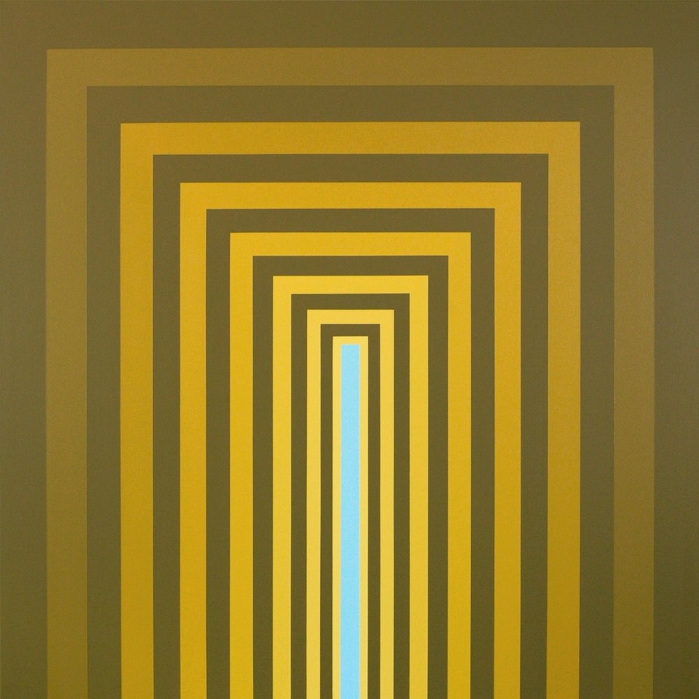 "BLARE  48""x48""  acrylic on canvas  Available via  Dimmitt Contemporary Art"