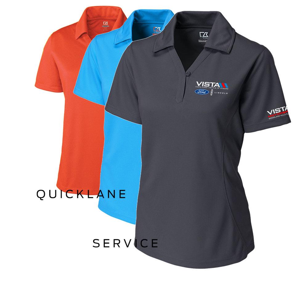 Women's Cutter & Buck Genre Polo. Men's Shirts will be the same layout.