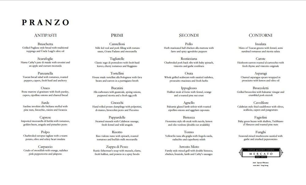 Click to see enlarged menu