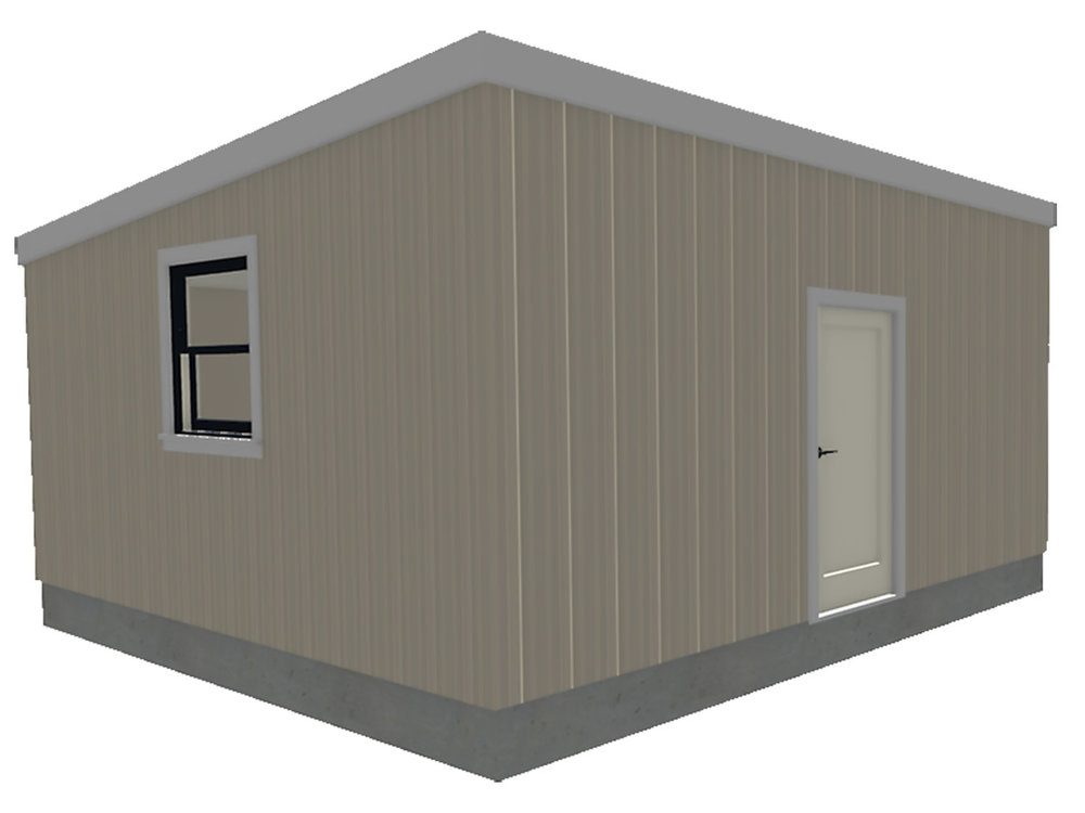 Western Shelter MRH 1616 temporary Shelter Modular Relief Home