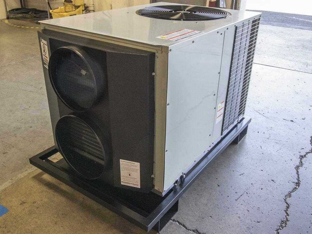 Skid mounted HVAC
