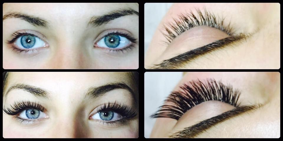 Volume Lash Extension Before and After