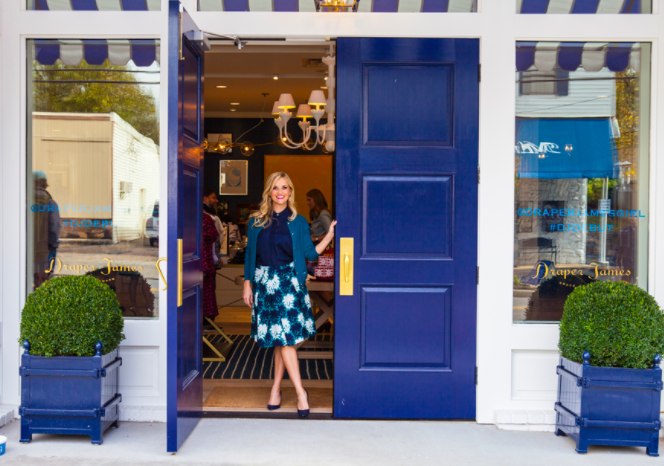 Mark has done the interiors of Reese Witherspoon's Draper James stores in Nashville and Dallas.  (This Nashville location is less than a block away from where we lived in the late 90's) Photo courtesy of Draper James via Southern Living.