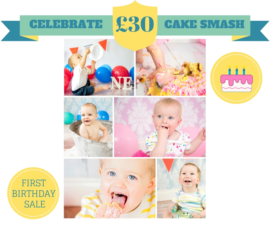 cake smash in Ely photos first birthday photography