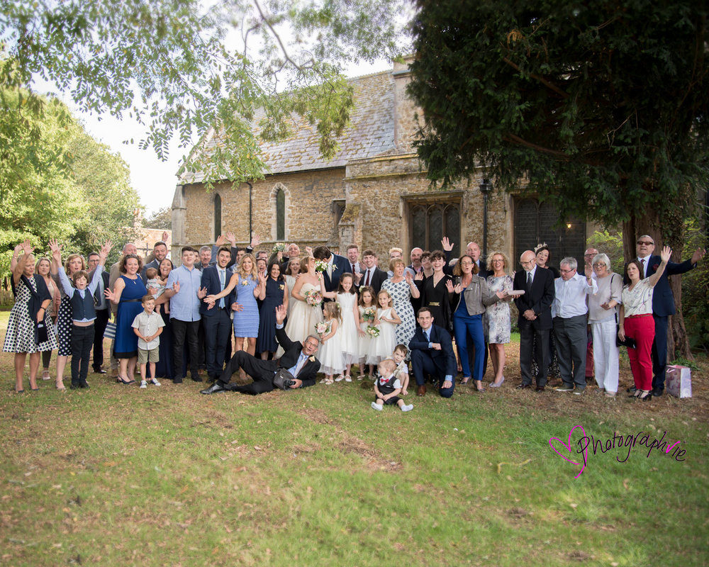 Wedding photography at St Mary's Church, Ely