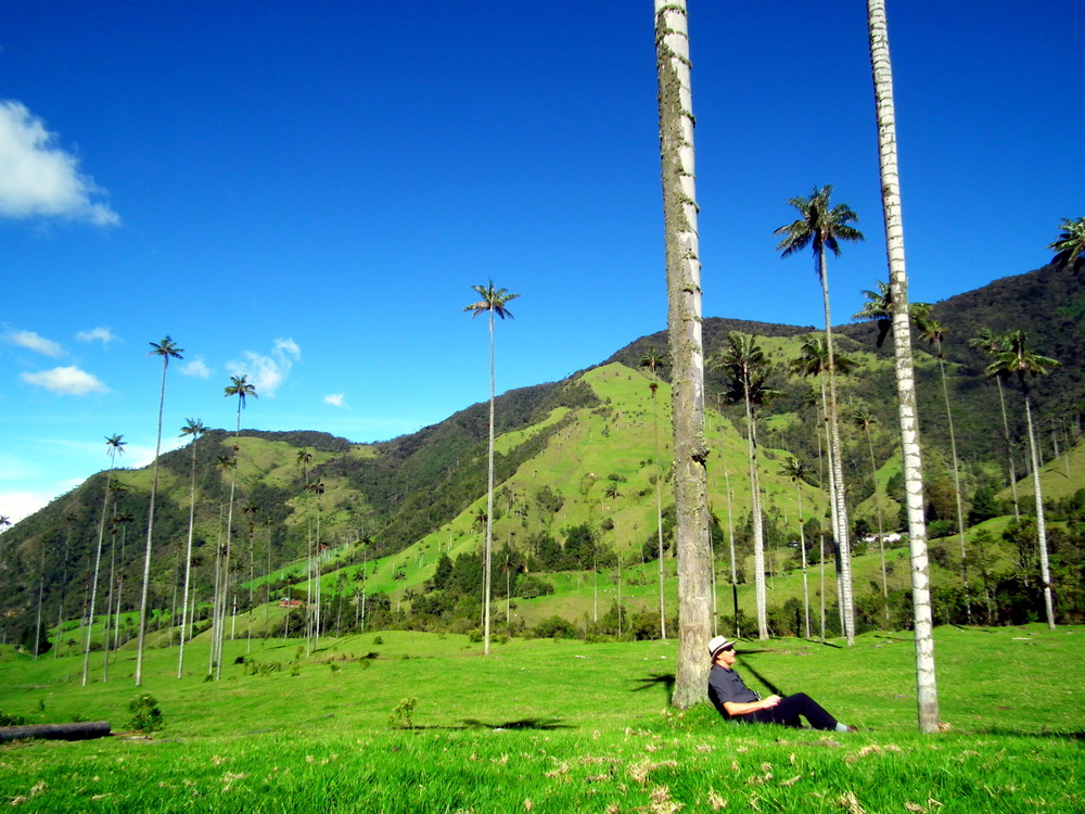 Stopping to rest in Valle de Cocora.