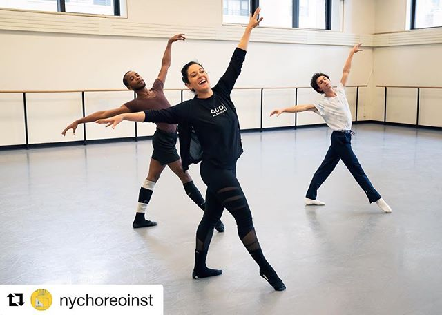 Our Mari Meade setting work on NYCB dancers for the 2018 New York Choreographic Institute • #Repost @nychoreoinst ・・・ Last month, we had another successful Fall Session. Over the course of ten days, the choreographers, dancers, and designers rehearsed and collaborated for the final showings at the end of the session.  Pictured: Mari Meade rehearsing her piece with @nycballet corps de ballet dancers Kennard Henson and Spartak Hoxha. Photo © Kyle Froman  #nyci #fall #welcome #dance #dancers #choreography #choreographer #dancing #ballet #contemporary #nycb #newyorkcity #newyork #nyc #manhattan #arts #creative #lincolncenter #pointe #ballerina #rehearsal #dancestudio
