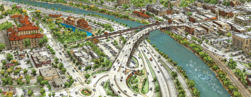 Drawing of the new Grand Avenue Bridge project upon completion