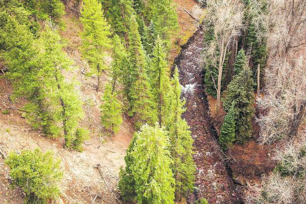 'The city of Aspen filed paperwork Monday with the District 5 Water Court to renew its water rights on Maroon (pictured) and Castle creeks, which could lead to the construction of dams on each stream.' Source: Ana Stonehouse, The Aspen Times