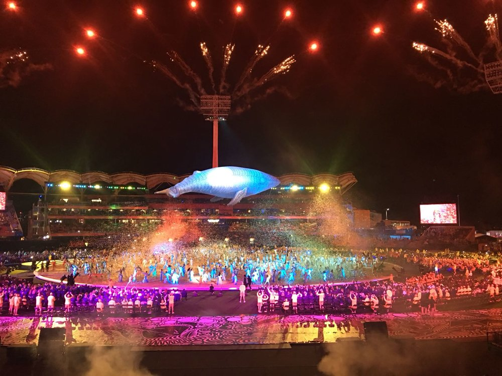 Taken from the opening ceremony of the Gold Coast Commonwealth Games 2018