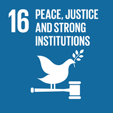 UN Sustainable Development Goal 16: Peace, Justice and Strong Institutions.