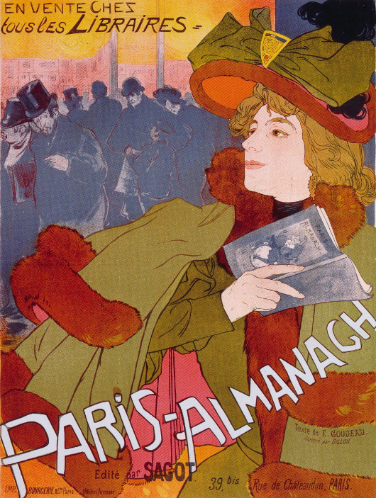 """Paris-Almanach,"" 1895 by Georges de Feure"