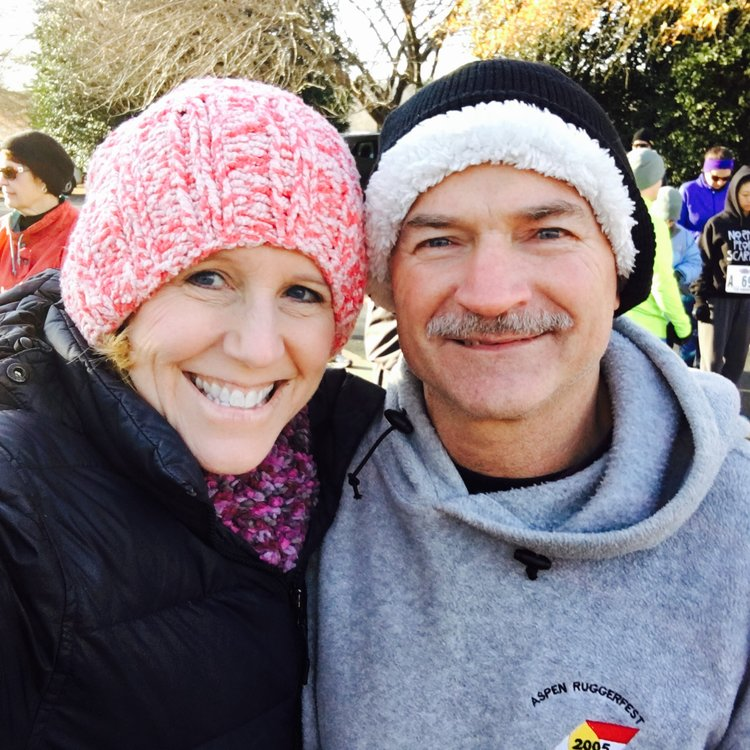 A 5K for a good cause... Are those icicles or gray hairs on your 'stache? :)