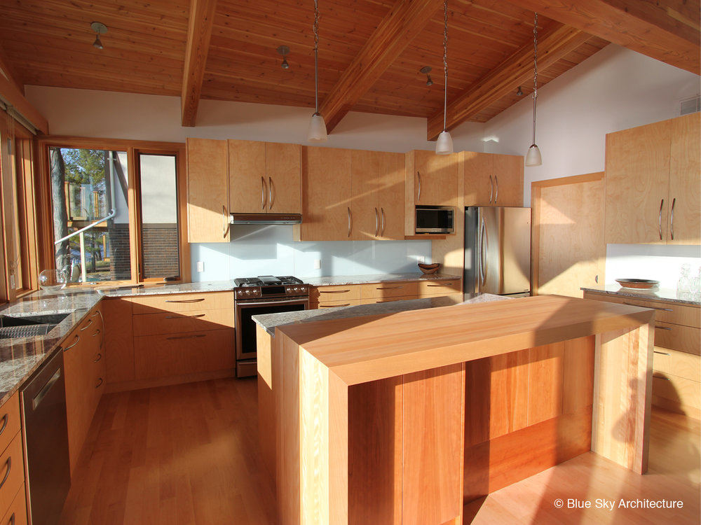 Lake Shore custom kitchen design with all wood materials