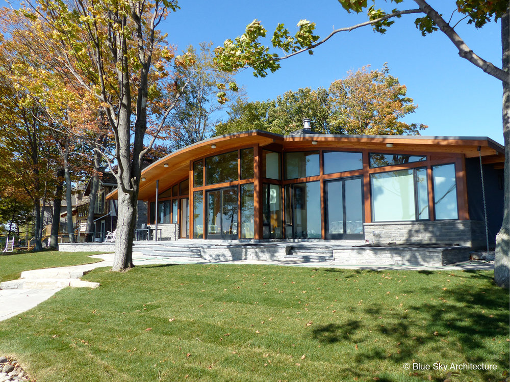 Sustainable Custom Lakefront Home Design
