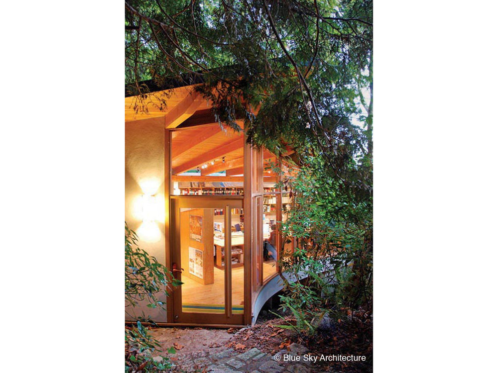 Organic Architecture Studio with Custom Entry Door