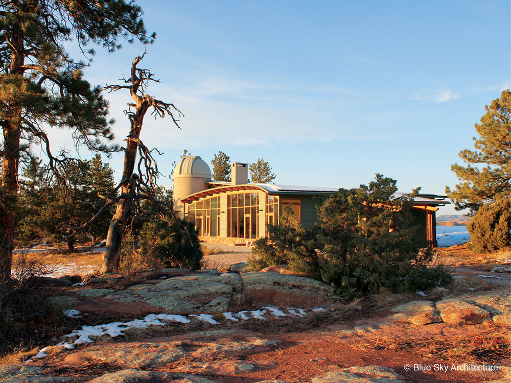 Comet House exterior desert architecture