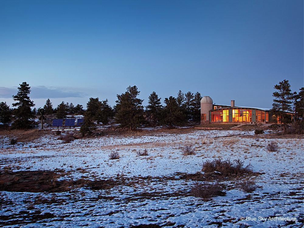 Custom Residential Desert Architecture at Night