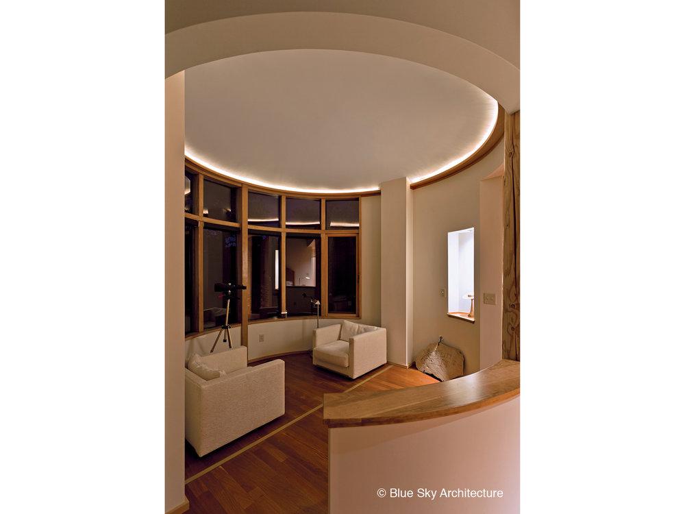 Sitting Room Rotunda with Large Windows