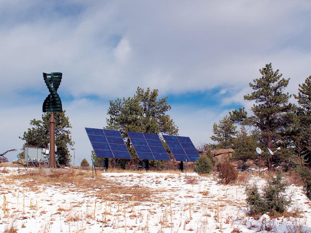 Solar Panels and Custom Designed Residence