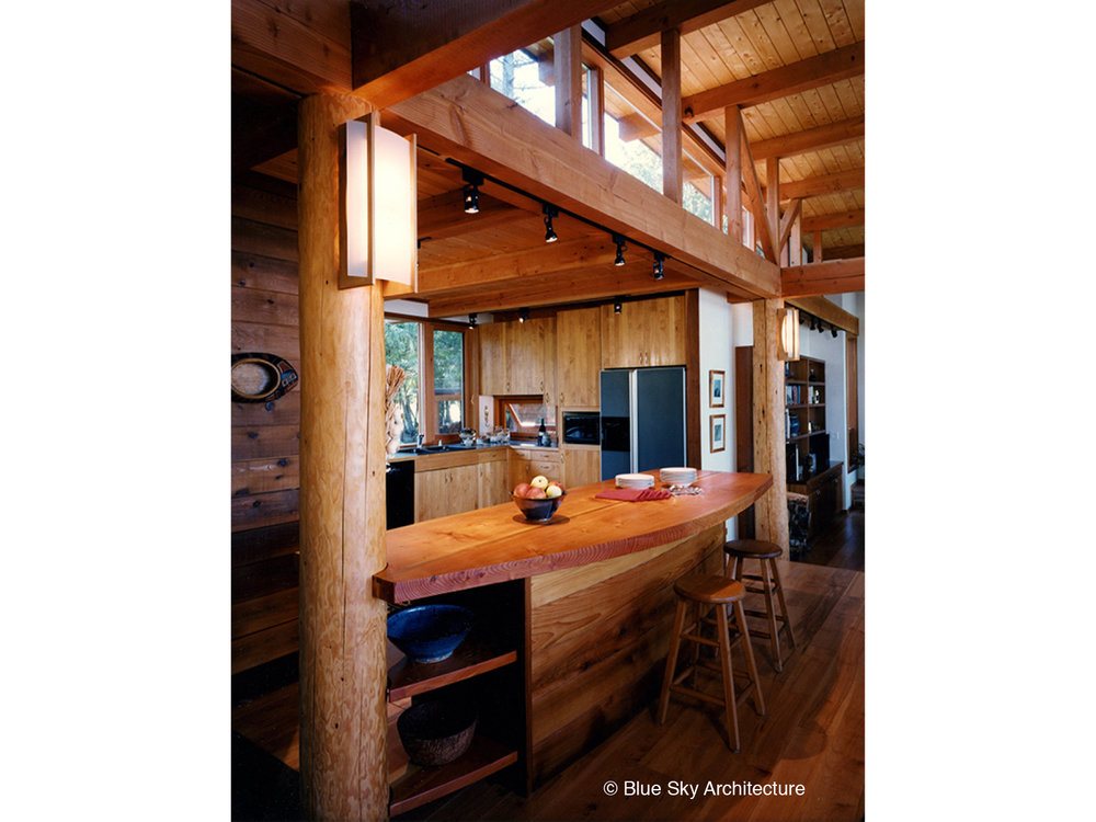 Post and Beam Residential Kitchen Design