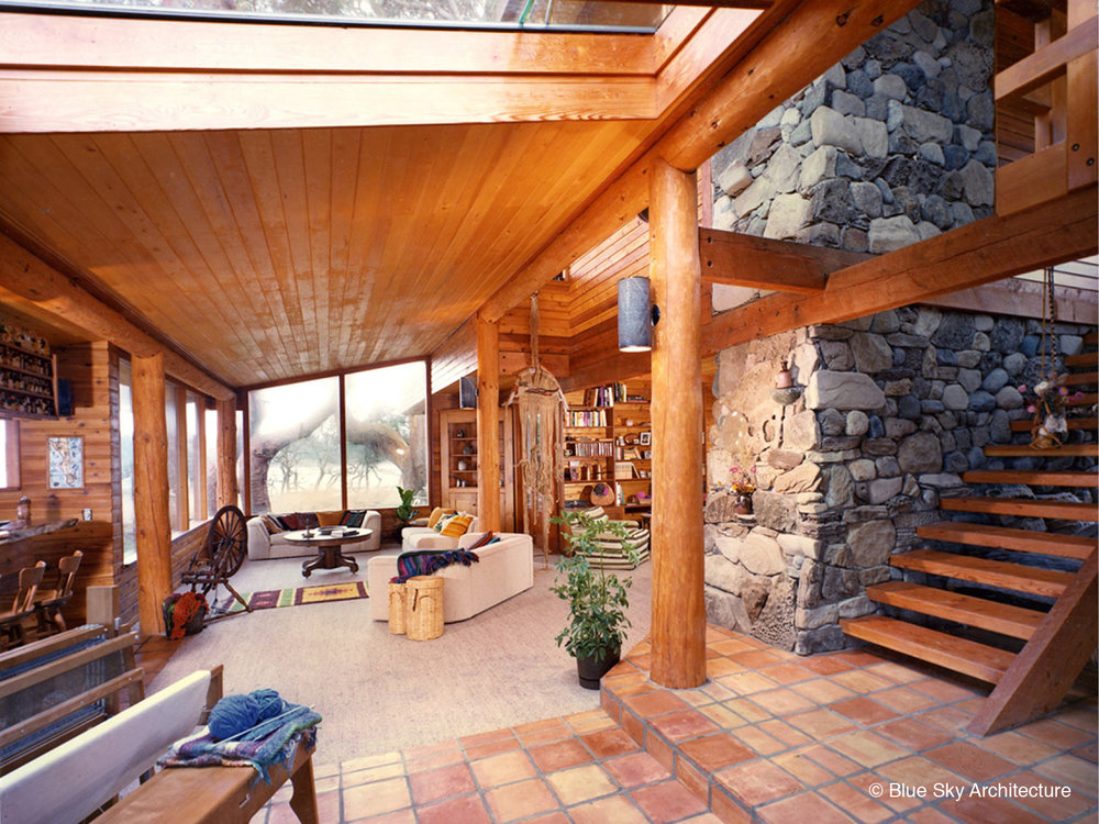 Custom Residence wtih Heavy Timber and Interior Stone Cladding