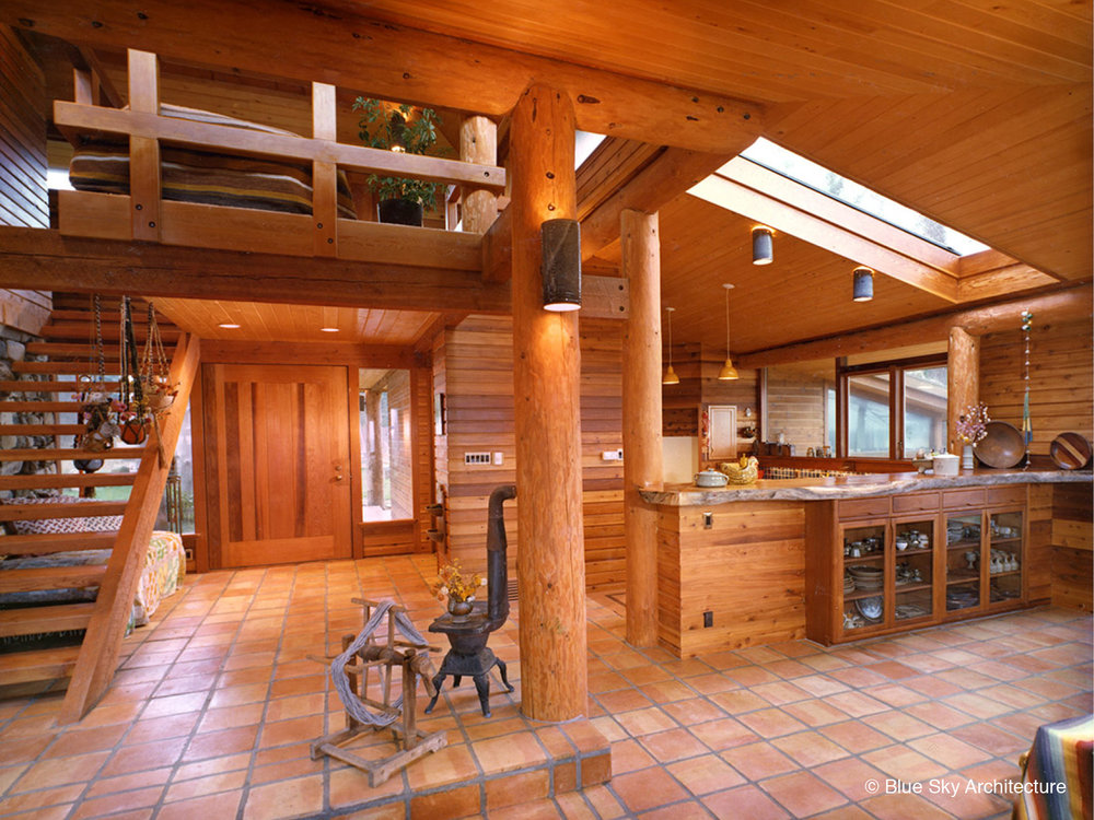 Kitchen Deisgn with Fir and Cedar Interior