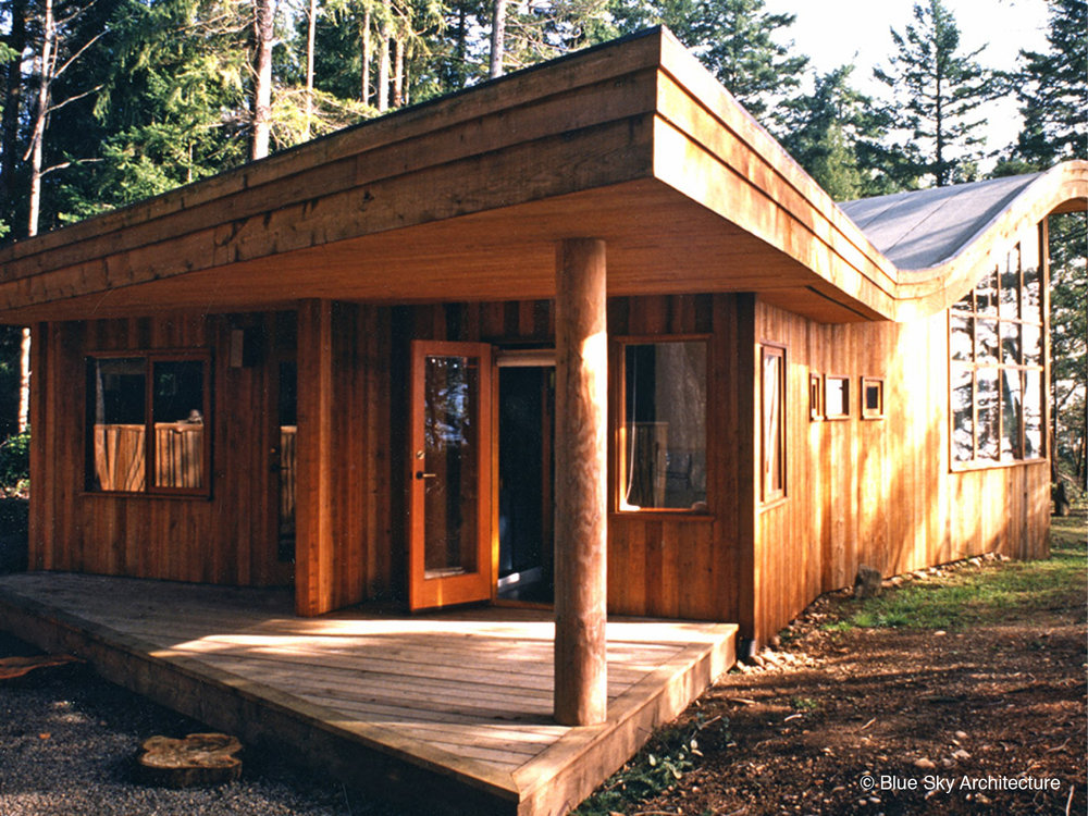Entrance and Deck with Heavy Timber and Natural Log